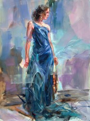 Anticipation III by Anna Razumovskaya - Original Painting on Stretched Canvas sized 30x40 inches. Available from Whitewall Galleries